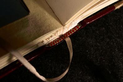hand-sewn silk endbands