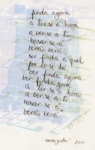 """""""verão verá (para Dea)"""", português"""