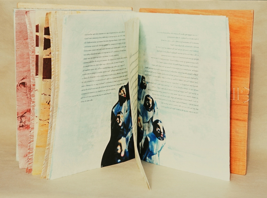 I have no bindery in Brazil, this book was entirely made in my mother's kitchen using whatever materials I could get around.