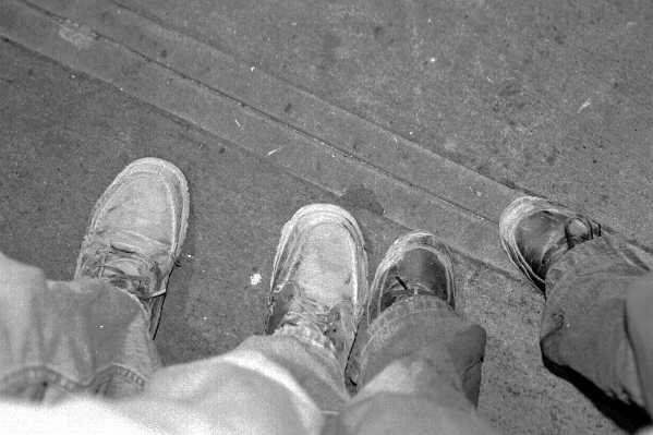 This was the last frame out of the three 35mm rolls I had with me: our feet. Caminante, no hay camino. El camino se hace al caminar.